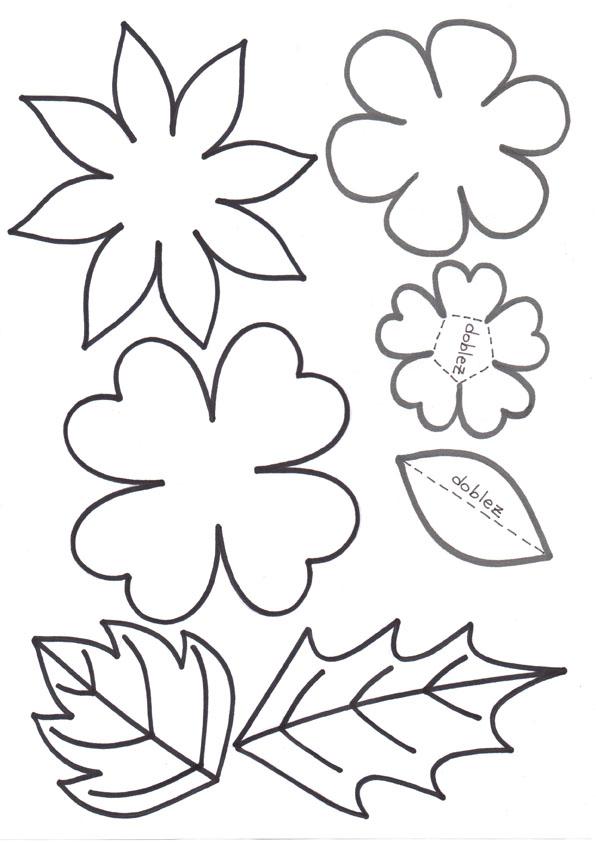 Molde De Flor De 4 Petalos Imagui
