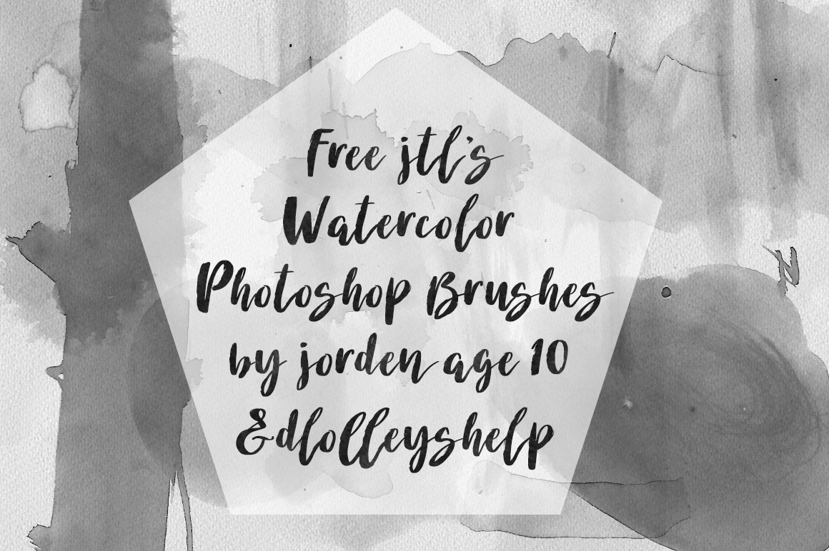 DLOLLEYS HELP: Free JTL'S Watercolor Photoshop Brushes
