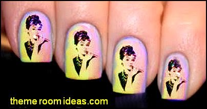 Audrey Hepburn Nail Wraps Art Water Transfer Decal