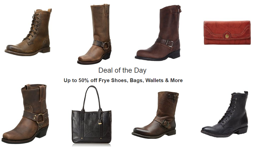 up to 50% off Frye shoes, bags, wallets & more