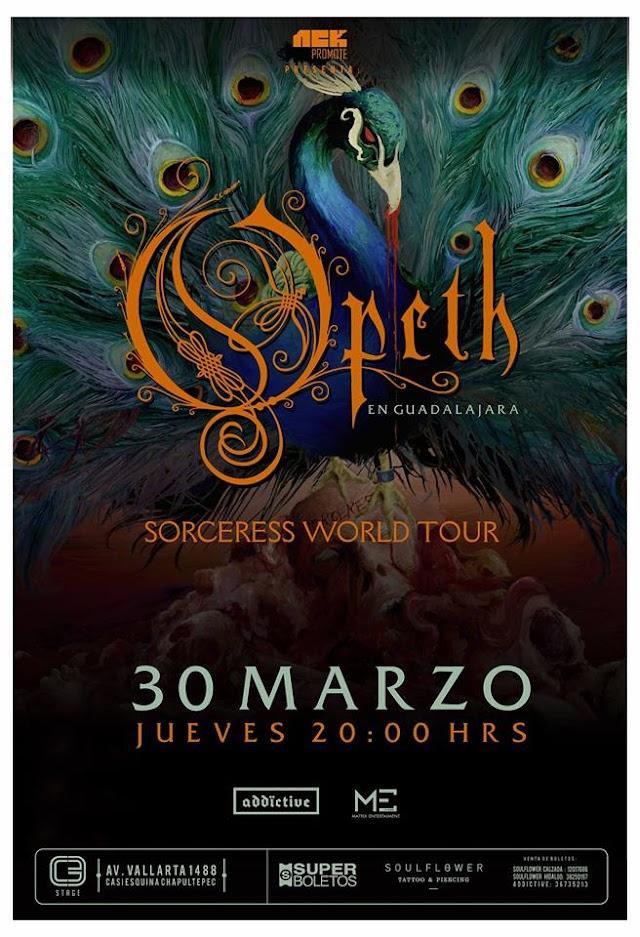 OPETH  SORCERESS WORLD TOUR  30 MARZO