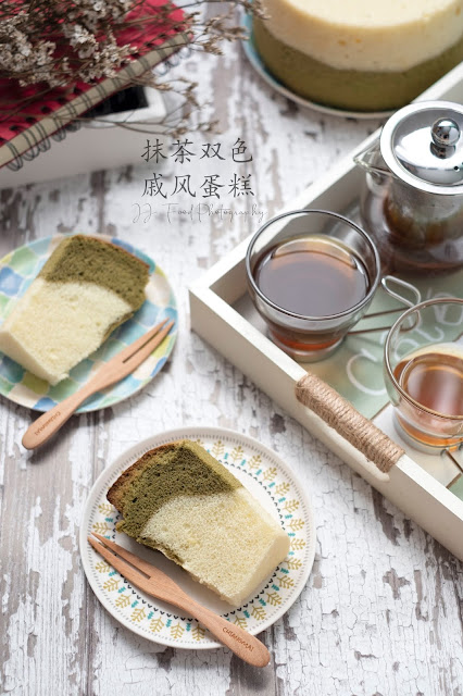 two tone kitchen table cabinet covers 爱厨房的幸福之味 抹茶双色戚风蛋糕matcha chiffon cake
