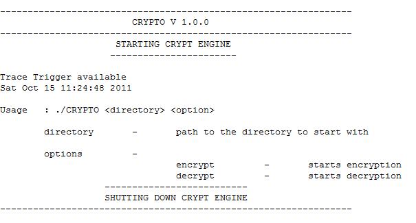 C++ Project : CRYPTO an encryption Decryption utility | ccplusplus com
