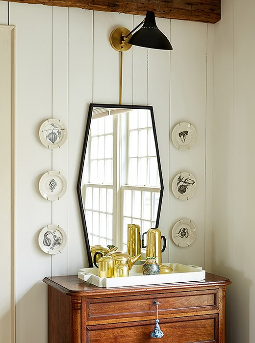 Gorgeous chest in dining room of Connecticut farmhouse of Debbie Propst of One King's Lane - found on Hello Lovely Studio