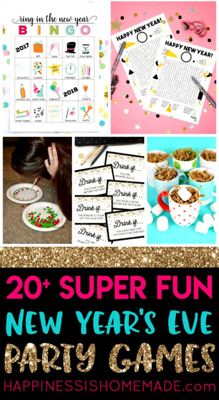 20 Fun New Years Eve Games Happiness is Homemade