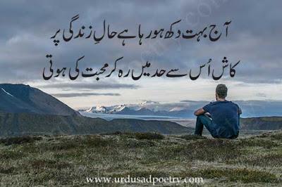 Aj Bohaut Dukh Ho Raha Hay Haal-e-zindagi Per