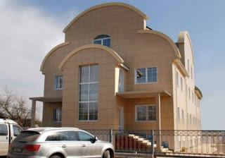 Вентилируемый фасад для коттеджа керамогранит, для частного дома, для загородного дома