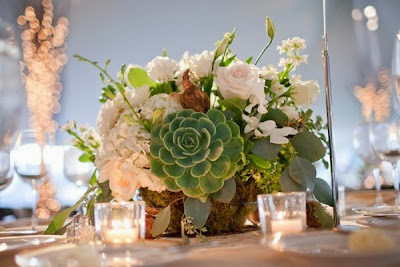 succulent wedding centerpiece