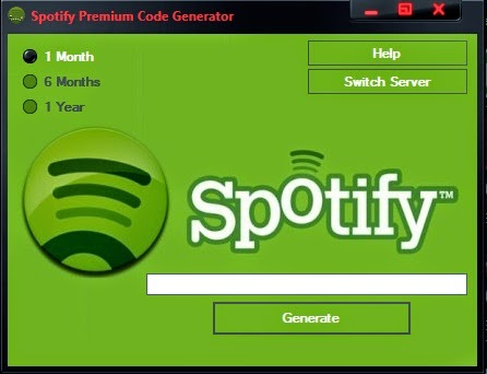 Free Spotify Premium code