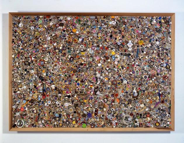 Майк Келли картина из мусора