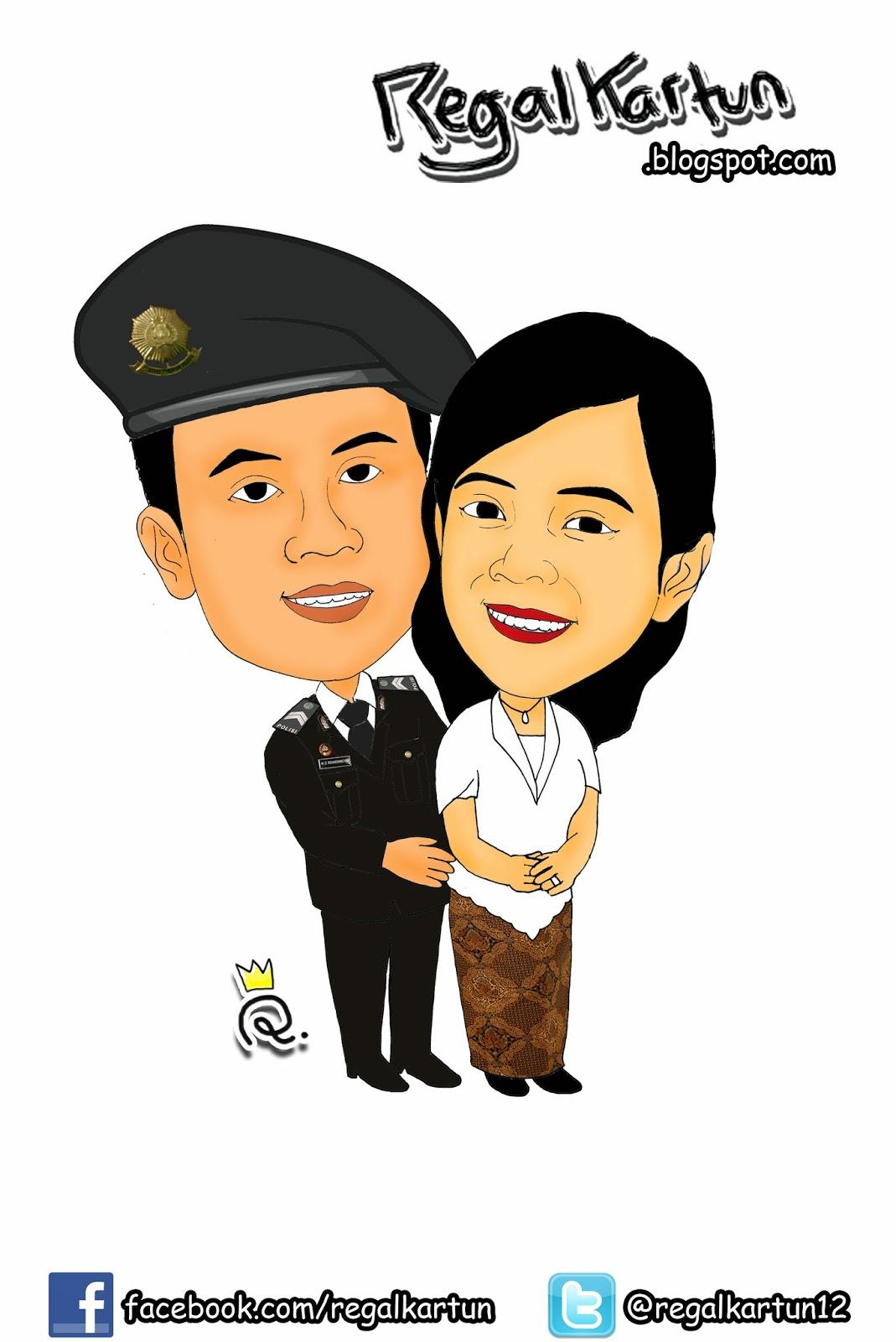 Gambar Kartun Pernikahan Polisi