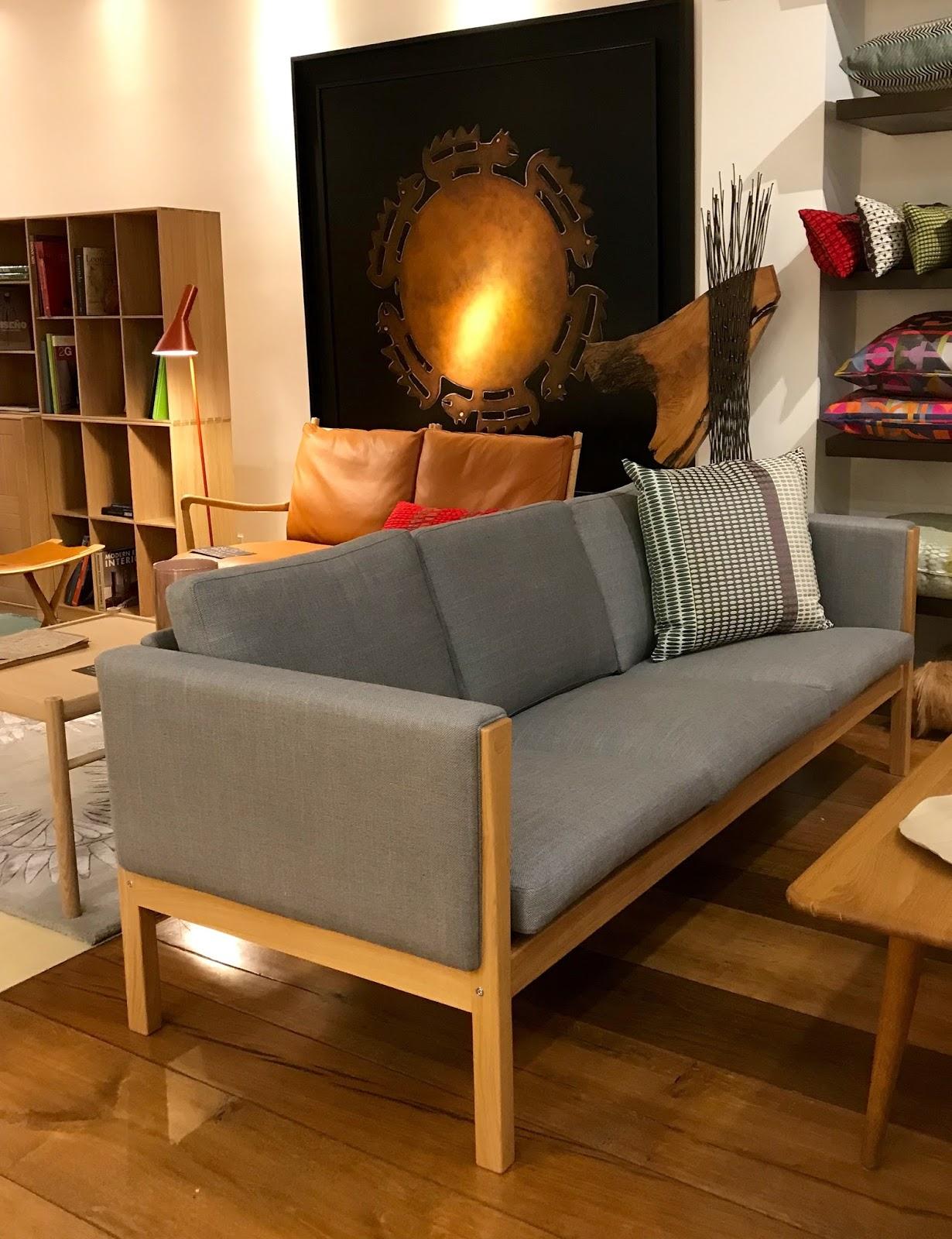 hans wegner sofa ch163 bed made in malaysia carl hansen en exposicion chic soul tela kvadrat