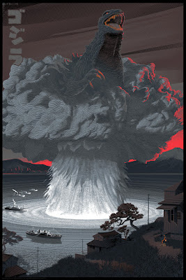 Godzilla Variant Screen Print by Laurent Durieux