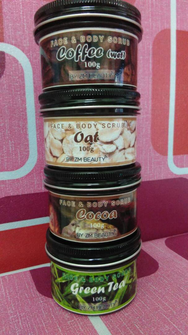 PACKAGING TERBARU SCRUB MUKA DAN BADAN HOMEMADE BY ZM BEAUTY