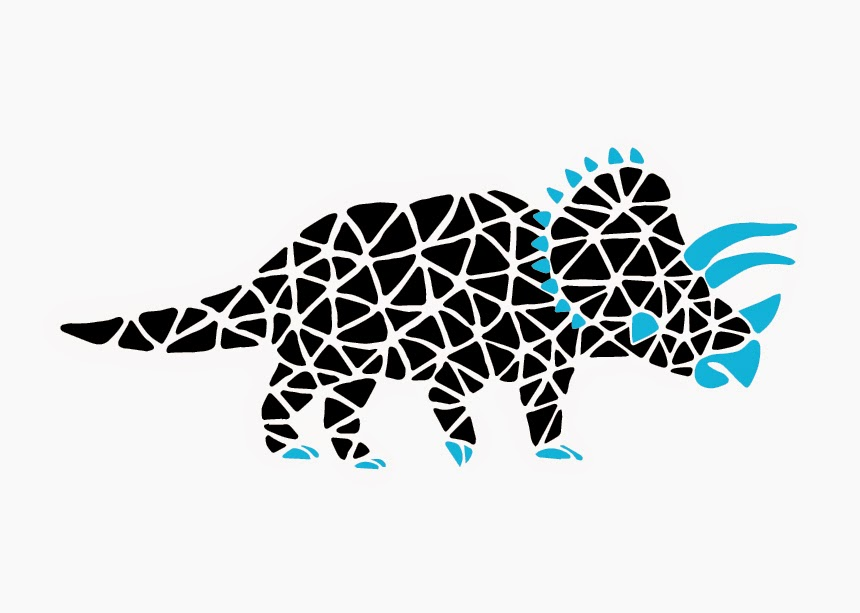 Jen Haugan | Mosaic Dinos | Triceratops