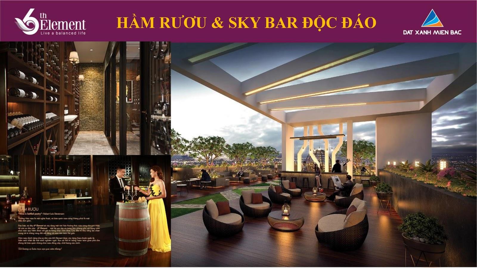 Hầm rượu và Sky Bar độc đáo