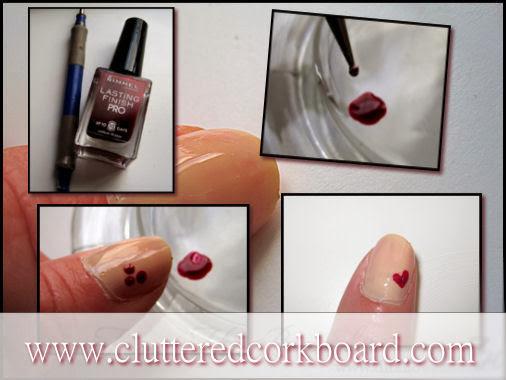 A Simple Heart - Nail design