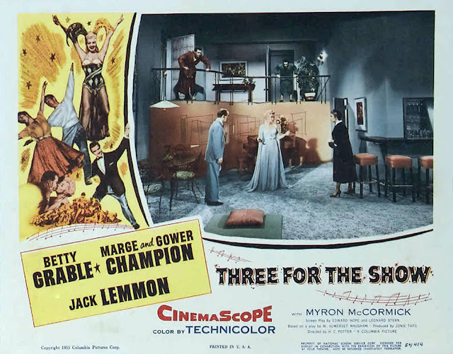 Three For The Show 1957 movieloversreviews.filminspector.com poster