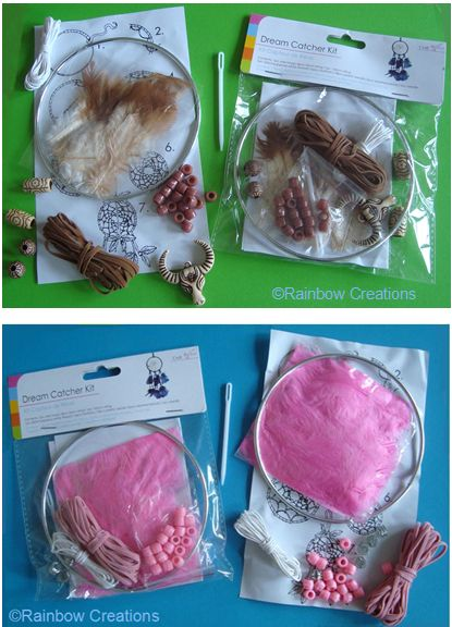 Brown and  Pink Dream Catcher Kits