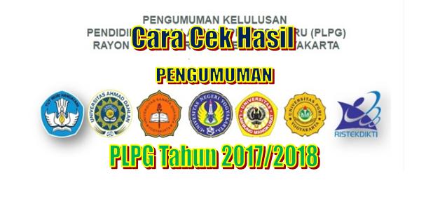 Cara Cek Hasil Pengumunan PLPG Tahun 2017