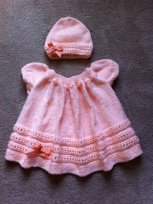 Peachy Baby Dress & Hat - Free Pattern