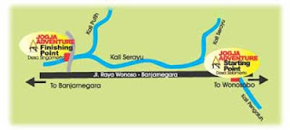 peta rafting sungai serayu banjarnegara