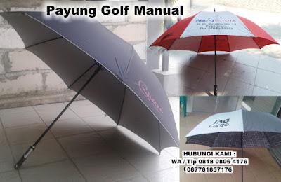 Payung Golf Manual, Souvenir Payung golf, Payung golf promosi, Payung golf sablon logo