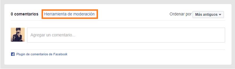 comentarios facebook plugin moderacion tools herramienta
