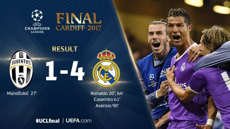 Video Juventus 1 4 Real Madrid Champions League Final Highlights