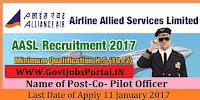 Airline Allied Services Limited Recruitment 2017 – Co Pilot