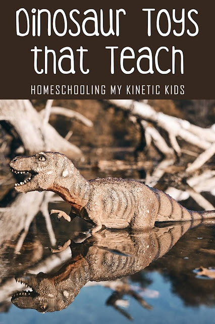 Dinosaur Toys that Teach // Homeschooling My Kinetic Kids // gift guide // birthday gift ideas // dinosaur lovers // Jurassic World and Jurassic Park fans will love these ideas