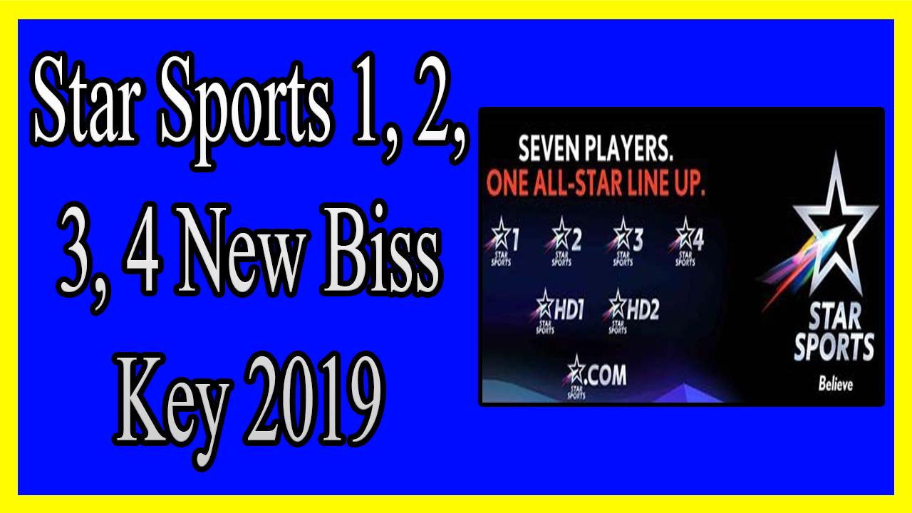 Star Sports 1, 2, 3, 4 New Biss Key 2019 - المحترف العربي