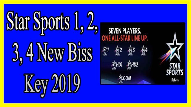 Star Sports 1, 2, 3, 4 New Biss Key 2019