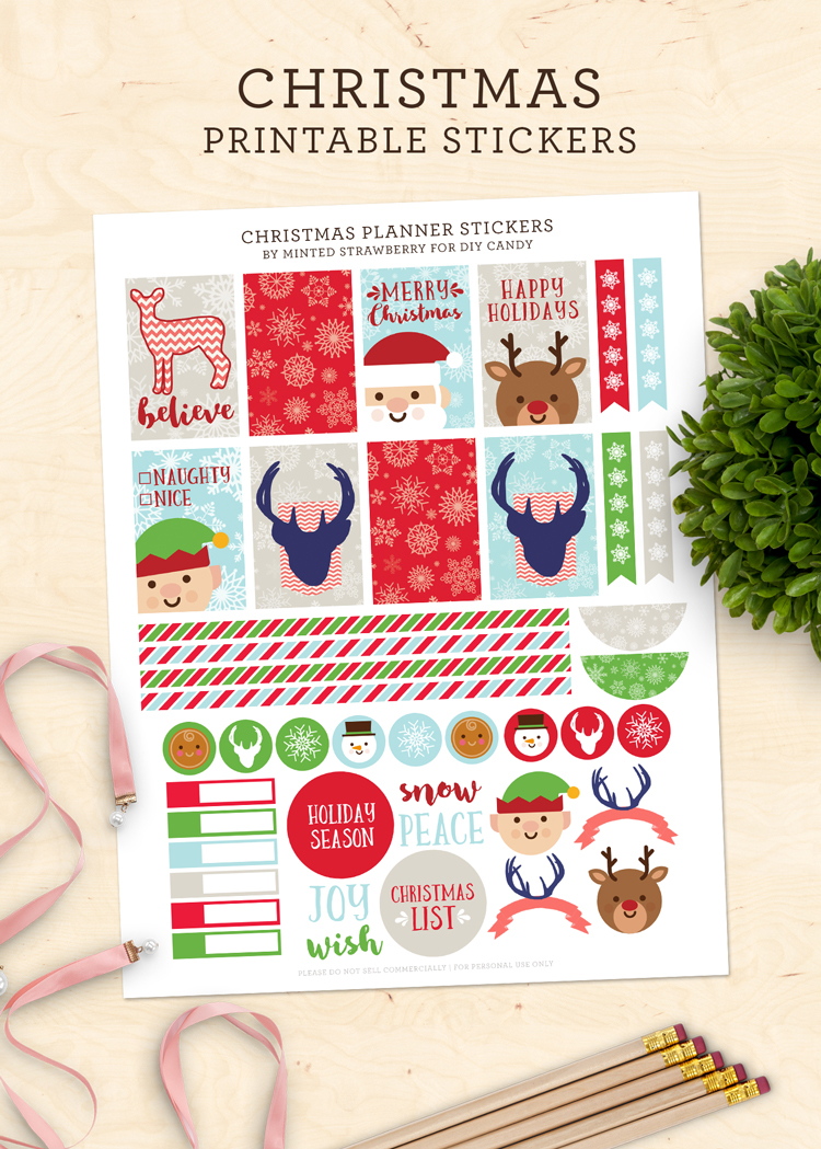 Christmas Planner Stickers at DIY Candy