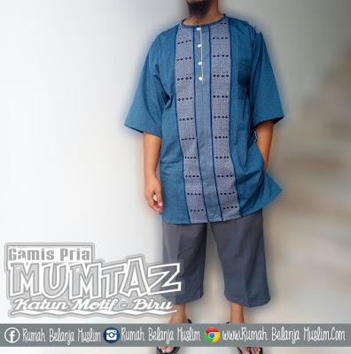 Gamis Pakistan Dzaki Mumtaz Biru