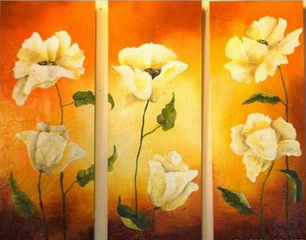 Cuadros modernos pinturas y dibujos cuadros de flores - Como hacer cuadros modernos ...
