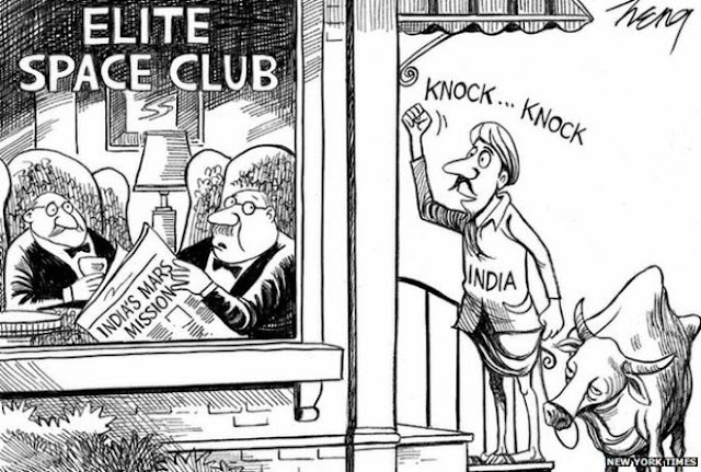 Indians counterd NYT with a cartoon on Indian Space Program that is winning the hearts