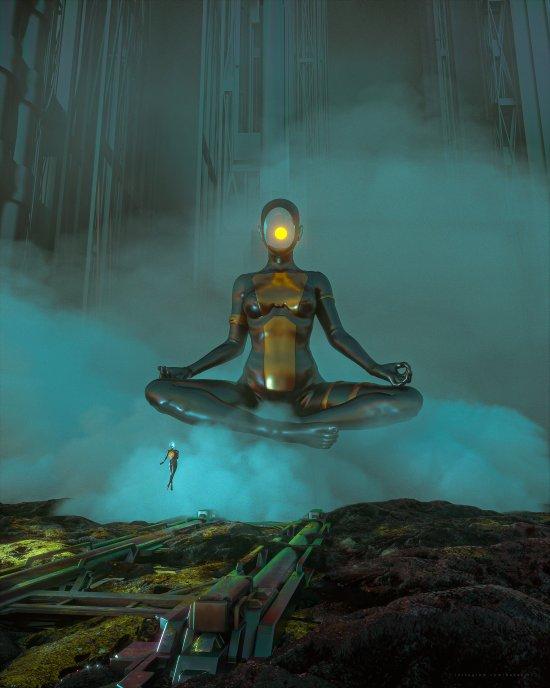 Darius Bartsy artstation deviantart arte ilustrações ficção científica cyberpunk surreal photoshop