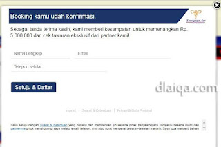 proses check-in sudah dikonfirmasi