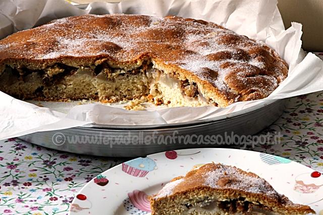 come fare una torta di pere e noci