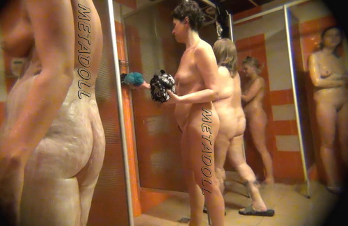 Shower Spy 327-336 (Hidden cam in shower room with many nude girls)