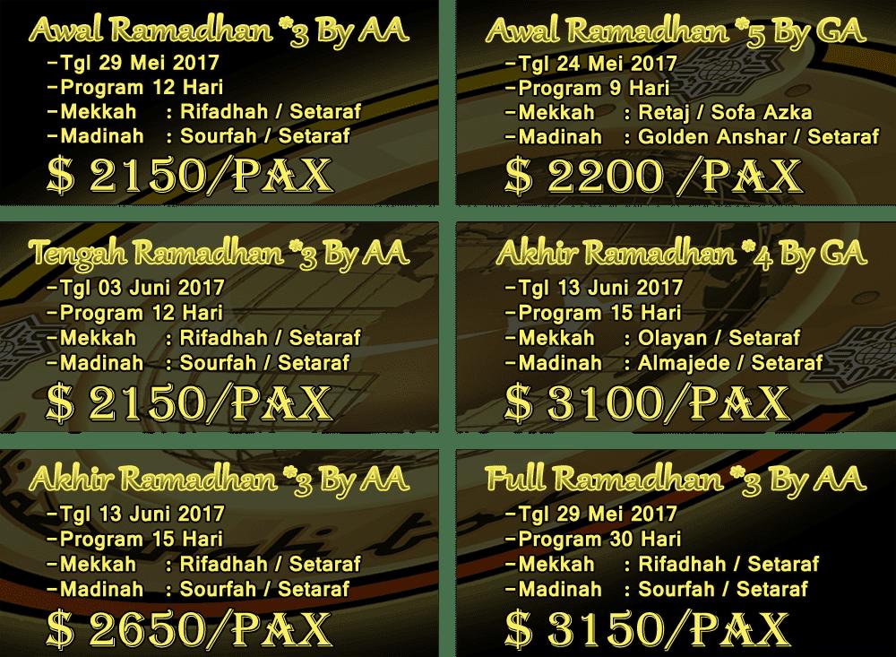 Biaya Dalam Rupiah Paket 2017