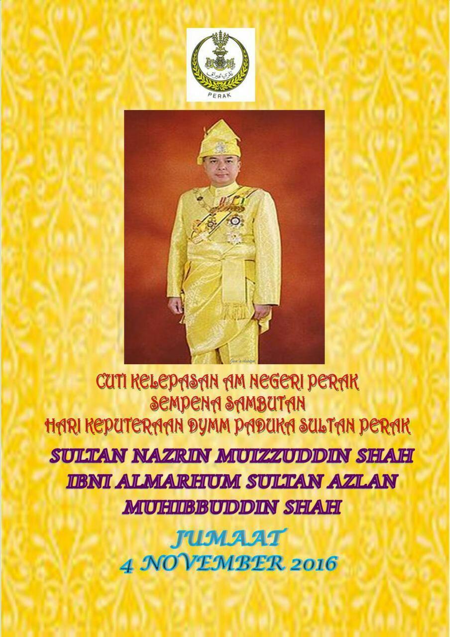 Kenapa Tarikh Keputeraan Sultan Perak Berubah Setiap Tahun Cikgu Share