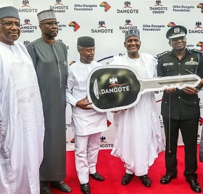 Dangote Donates 150 Cars To Nigerian Police