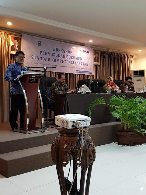 Plt Sekda Sinjai Buka Workshop Penyusunan Dokumen Standar Kompetensi Jabatan