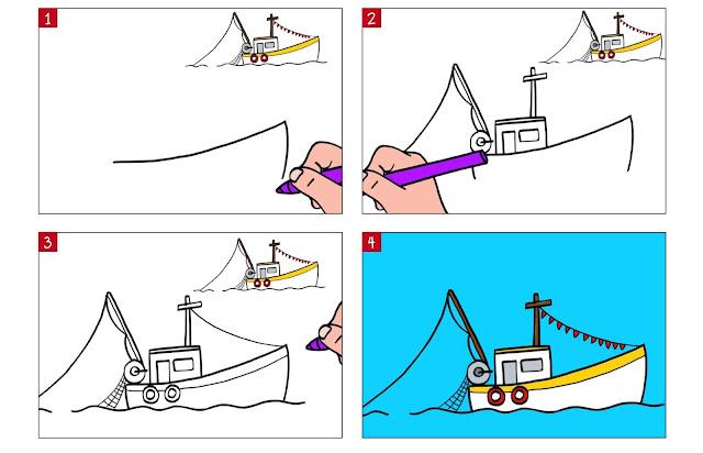 رسم_سفينة_شراعية
