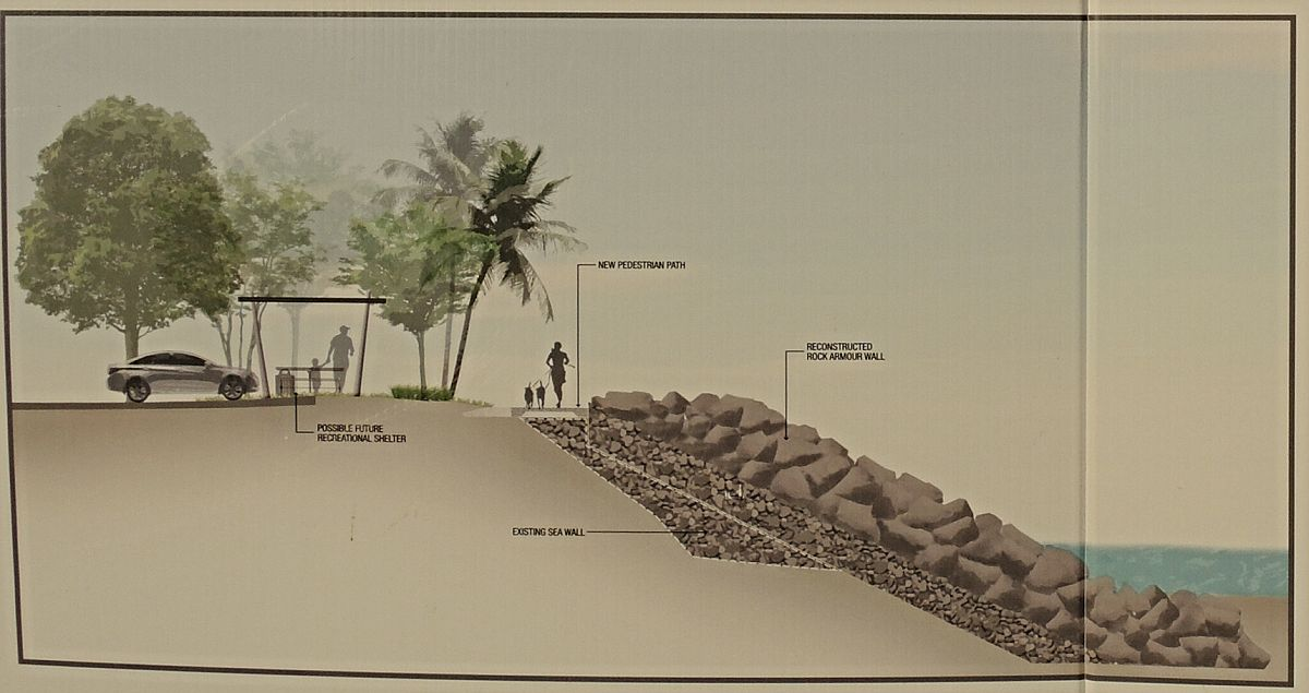 Queensland Coast: Constructing Machans Beach Seawall