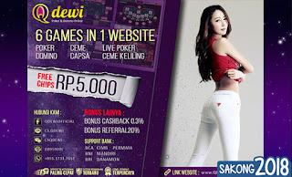 Situs Judi Domino Online Teraman QDewi.net
