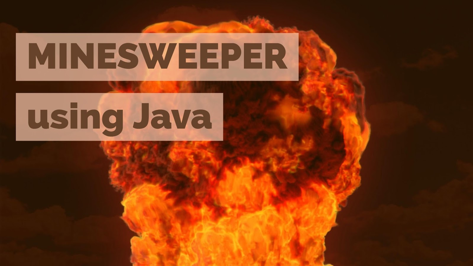 Developing Minesweeper using Java
