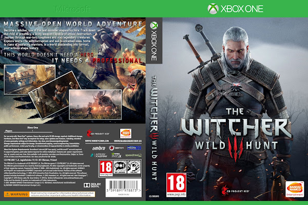 Capa The Witcher 3 Wild Hunt Xbox One